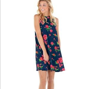 NWT mudpie floral sawyer a line swing dress small